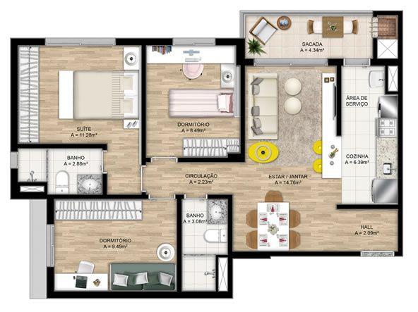 4 modelos de plantas de casas americanas casa ideal for Disenos de casas americanas