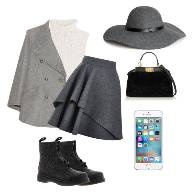 """""""WINTER"""" by volddecorltt on Polyvore featuring Theory, Chloé, Dr. Martens, Alexander McQueen, Fendi and H&M"""