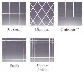 Por Window Grid Styles Colonial Diamond Craftsman Prairie And Double