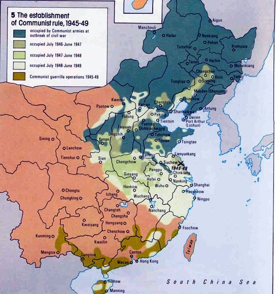 Cold War Map Of Asia.1945 1949 Second Phase Of The Chinese Civil War Chinese