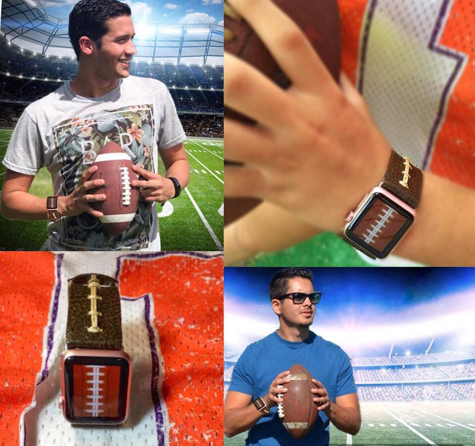 Football Band For AppleAll Series and Most Watches Made of