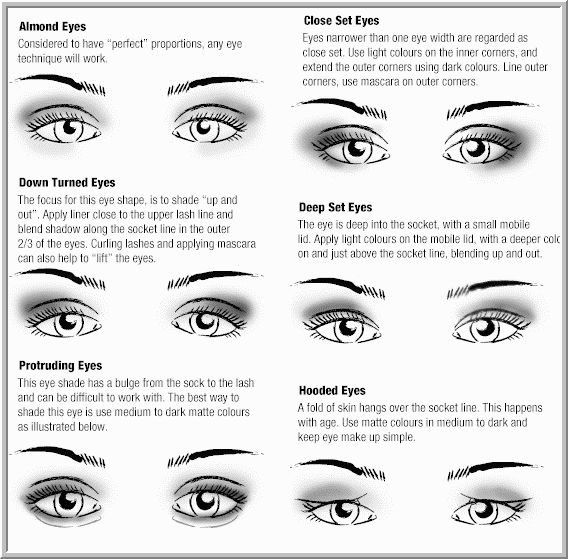 How To Apply Eye Shadow For Different Eye Shapes Makeup For Brown