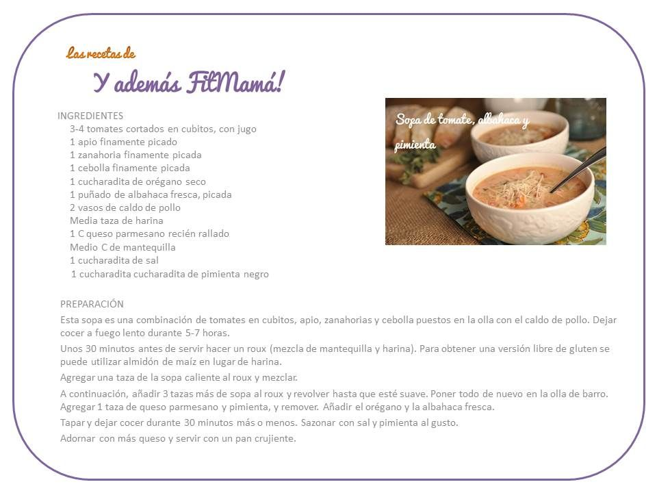 Sopa de tomate, albahaca y pimienta