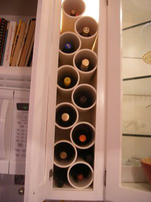 Diy Wine Rack For Small Cabinet Spaces Now I Just Need To Find A