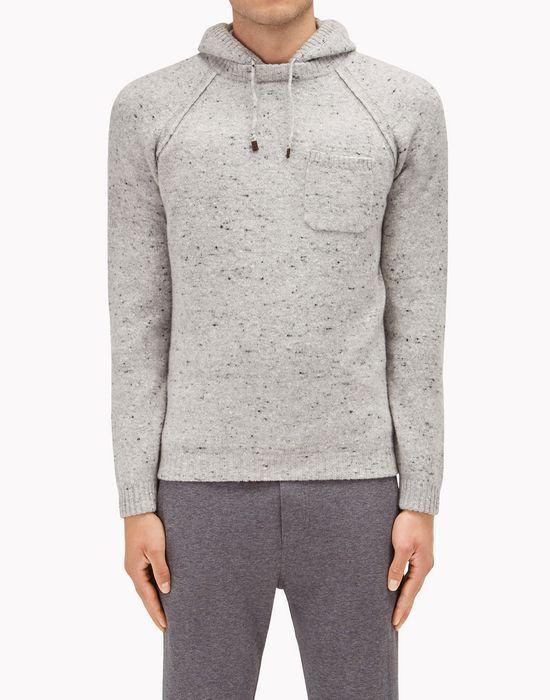 BRUNELLO CUCINELLI - Hooded sweater Virgin wool and cashmere knop yarn  fleece-style sweater M4675509