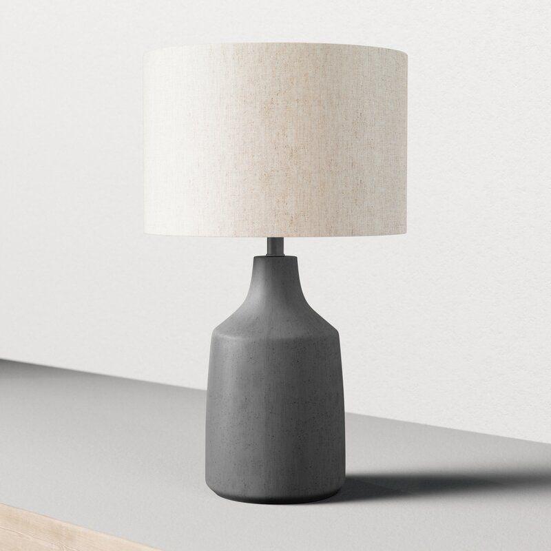 Shaun 25 Table Lamp Reviews Allmodern Modern Table Lamp Grey Table Lamps Side Table Lamps