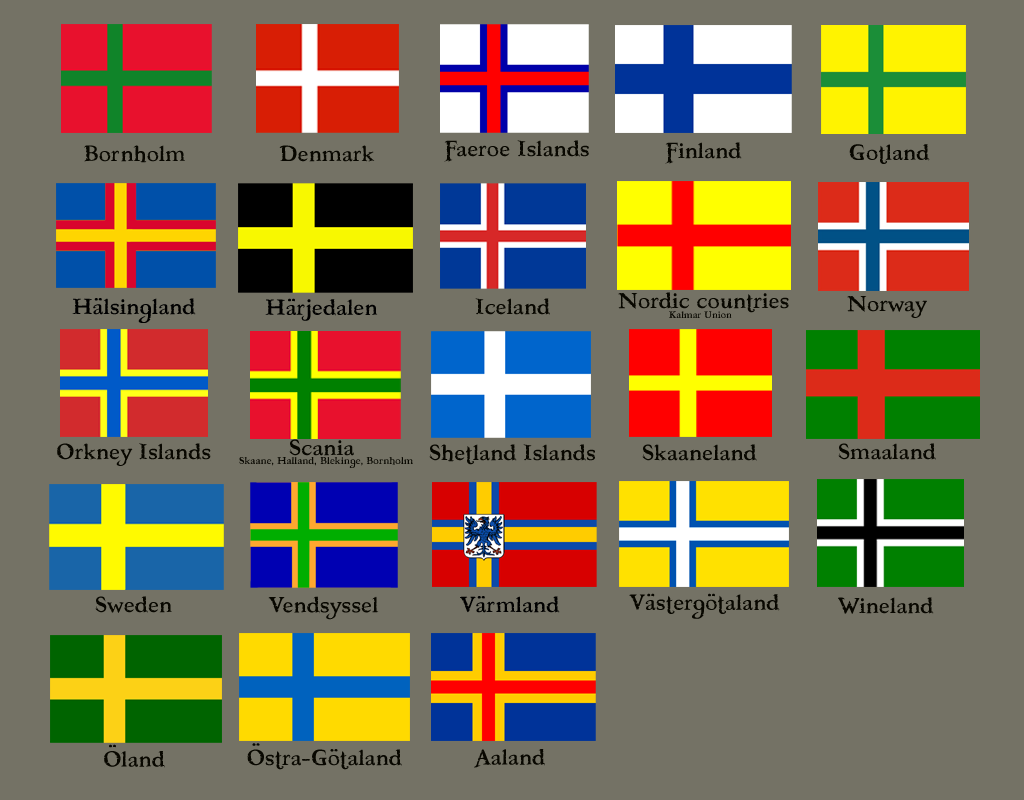 Nordic Flags Interesting To See Orkney And Shetland