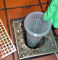 Prevent Floor Drain Clogs With This Plastic Floor Drain Strainer Pop In And Pop Out Plastic Flooring Floor Drains Kitchen Flooring