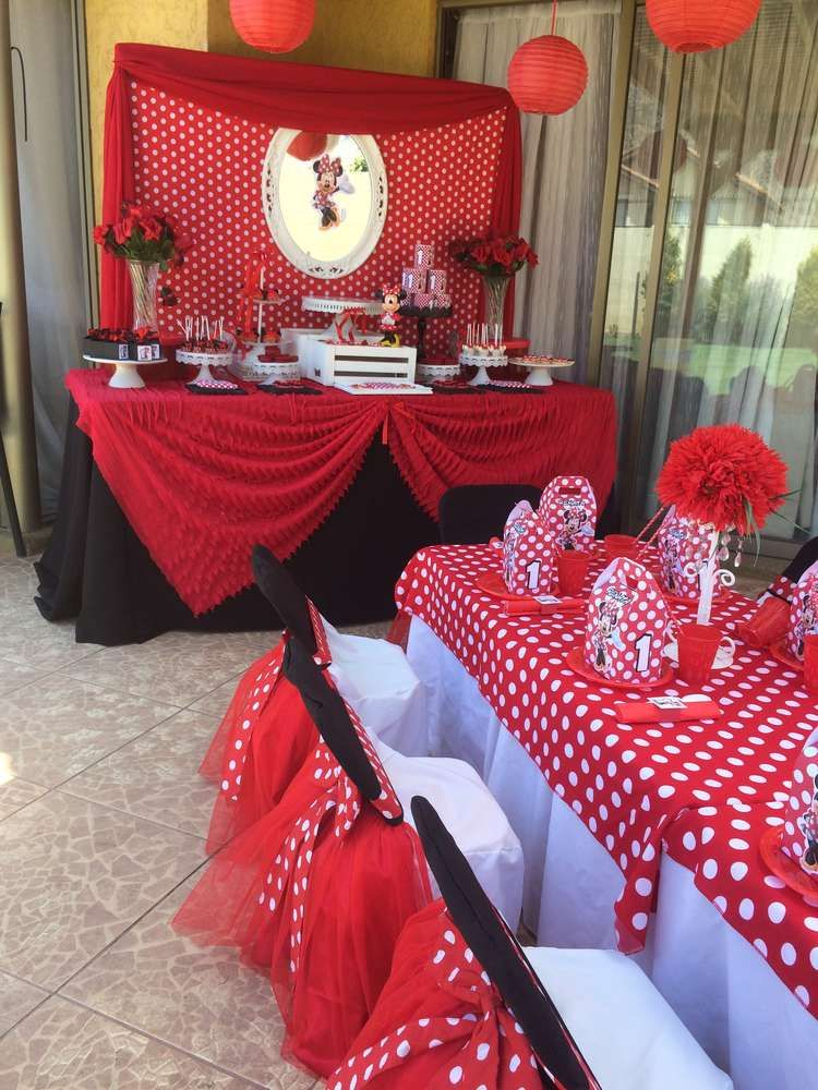 Mickey Mouse Minnie Mouse Birthday Party Ideas Photo 1 Of 22 Ca Minnie Mouse Birthday Decorations Minnie Mouse Birthday Party Minnie Mouse Birthday Theme