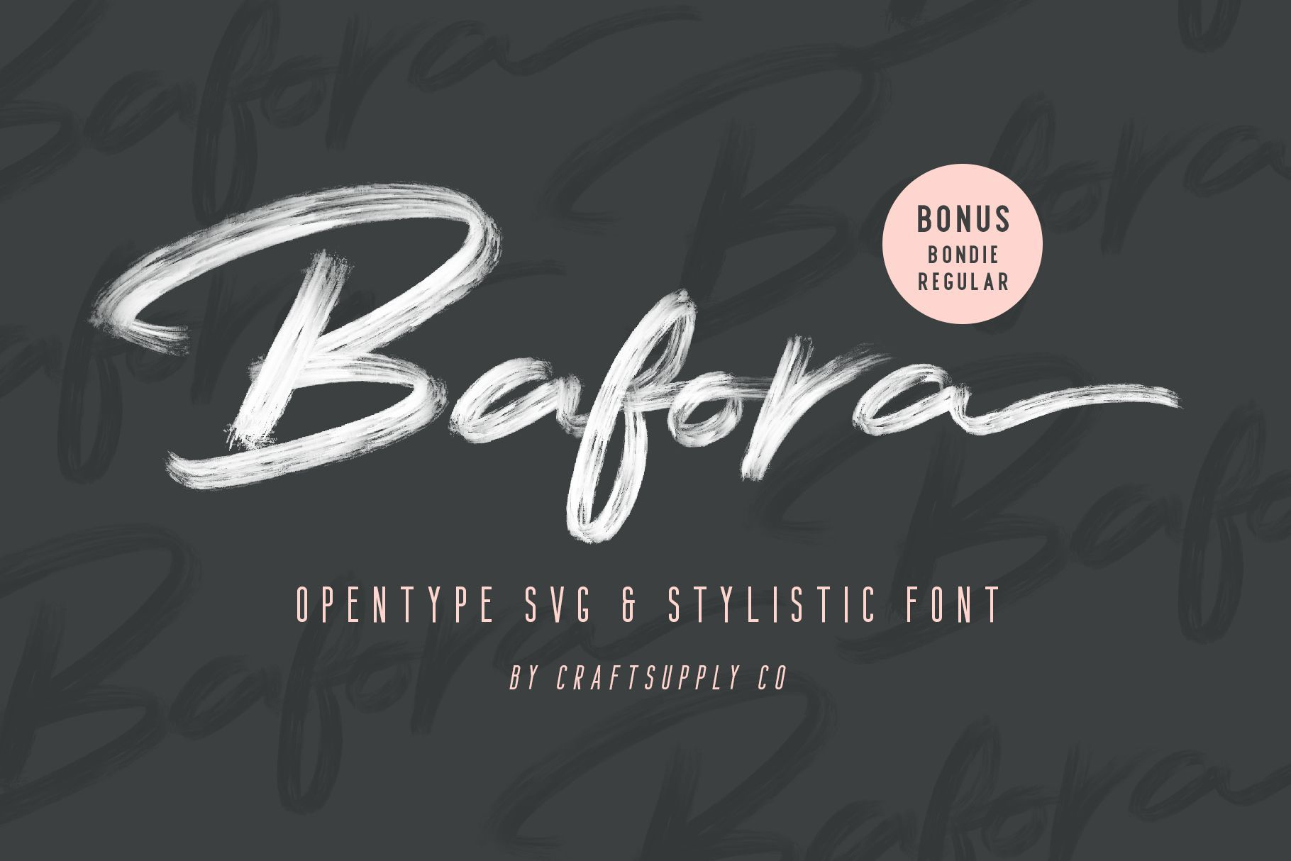 Bafora Brush Svg Font Free Fonts Script Handwritten Brush