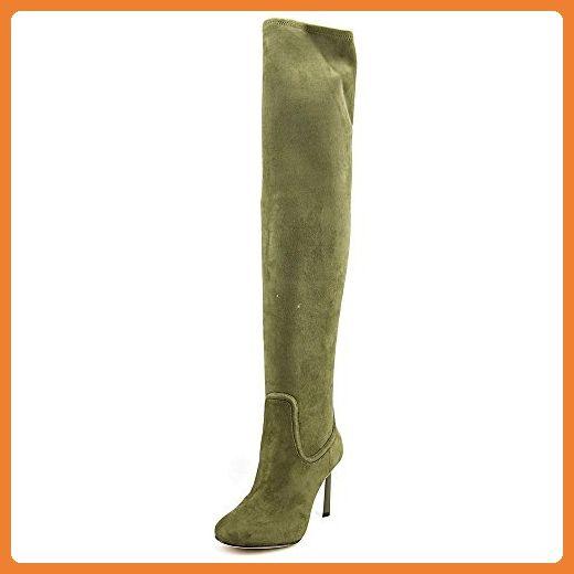 Nonbrand Damen Keilabsatz synthetischer Kniehohe Stiefel, Braun - braun - Größe: 37.5