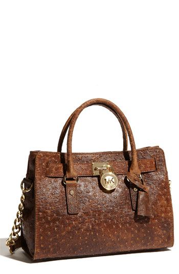 MK - love the vintage look of the ostrich leather in a classic structure bag