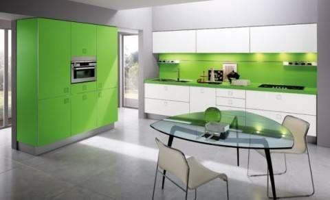 cocina color verde limon inspiración de diseño de interiores