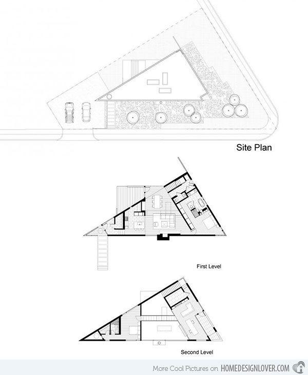 Komai Residence: A Creative Triangular House in Virginia ...