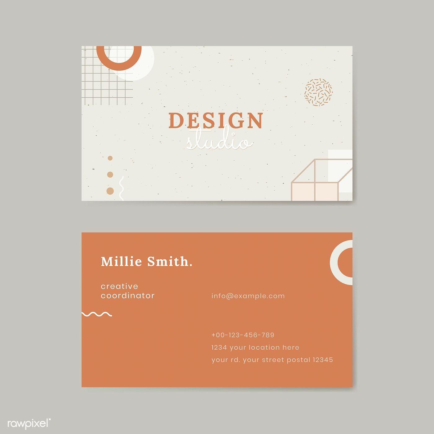Download Premium Vector Of Neo Memphis Business Card Template Vector In 2020 Business Card Texture Business Card Mock Up Vector Business Card
