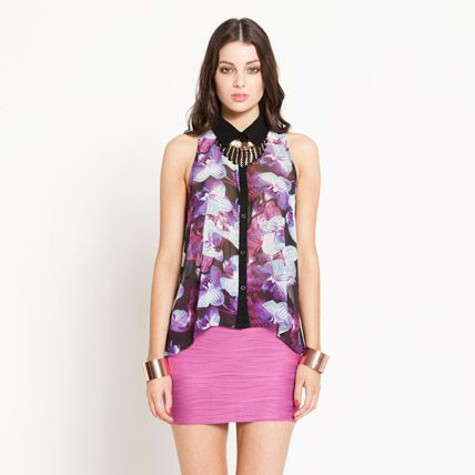 Blueprint Floral Long Tunic ($59.95) from Dotti.com.au