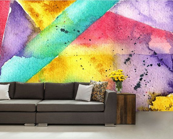 3d Abstract Mural Abstract Wall Mural Color Wall By 4kdesignwall Wall Murals Painted Mural Painting Abstract Wallpaper