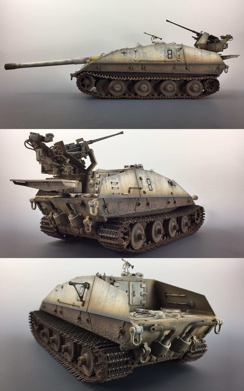 My 1/35 Trumpeter Jagdpanzer E100 Krokodil, modified ...