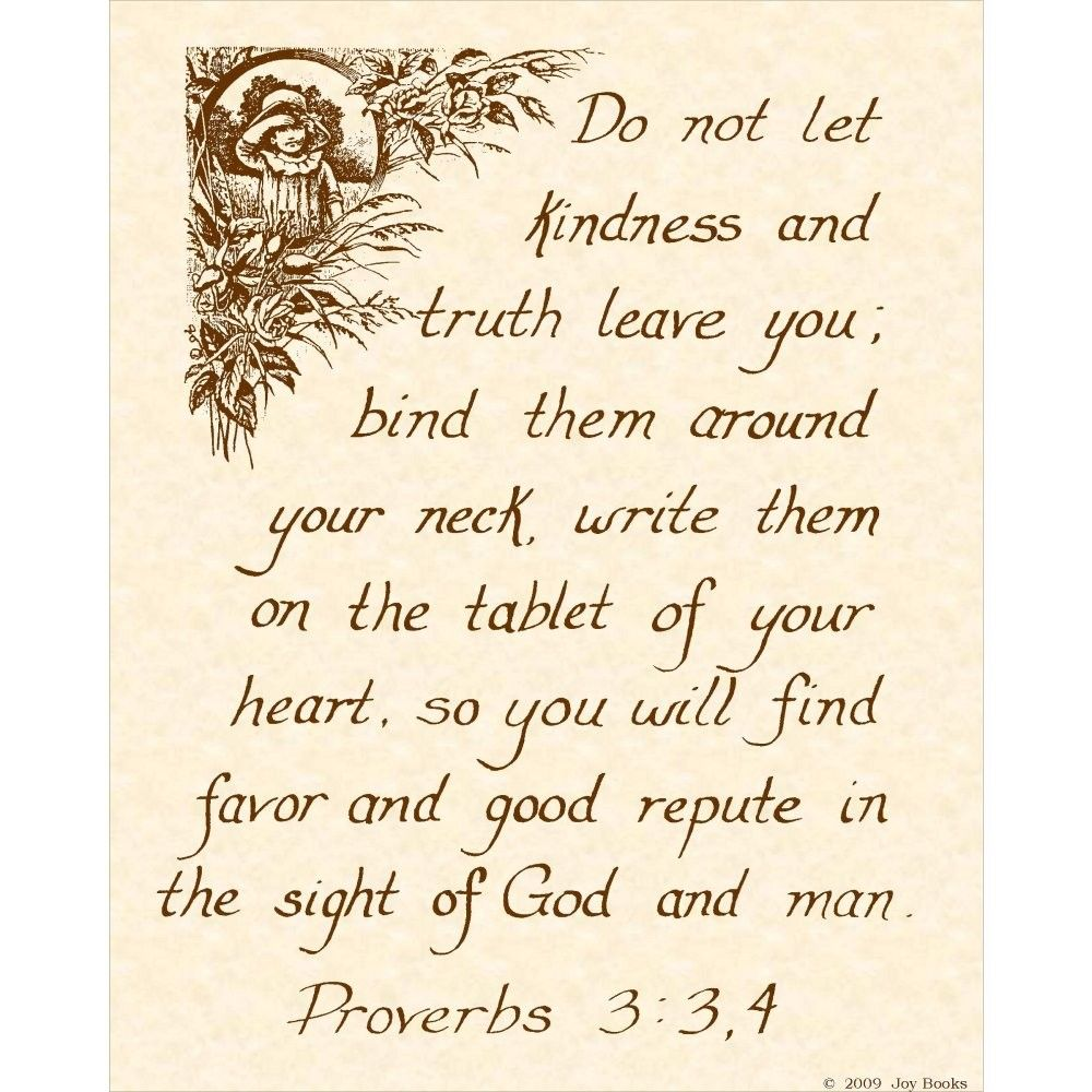 Proverbs 3 3 4 8 X 10 Calligraphy Art Print 3 50 Via Etsy