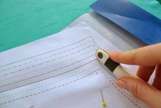 Use A Tracing Wheel And Carbon Paper To Trace Patterns Onto Fabric