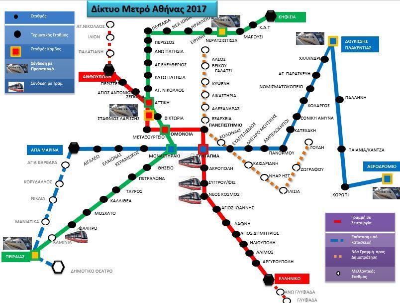 Deite Toys Neoys Analytikoys Xartes Toy Metro Ths A8hnas Apo To