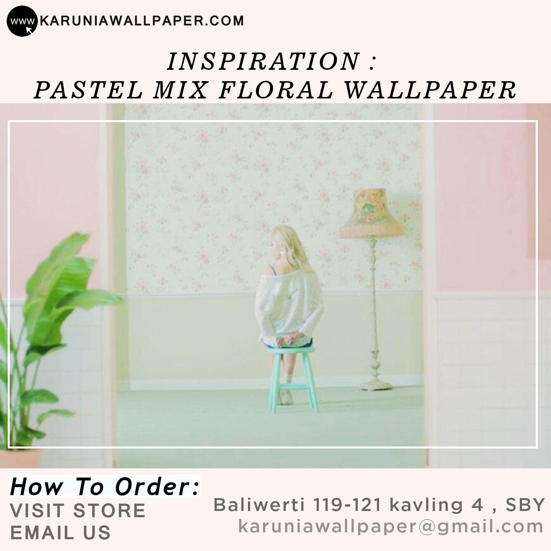 Jual Wallpaper Dinding Pastel Floral Shabby Chic Toko