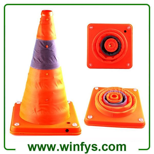 16 Inches Retractable Traffic Cone Rechargeable Collapsible Traffic Cones Foldable Traffic Cones Cone Cones Traffic