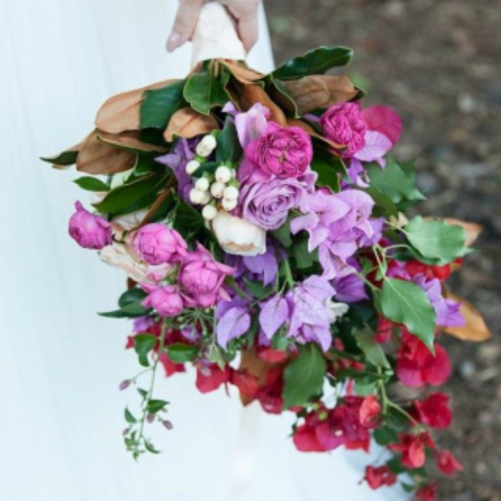 Jewel Tone Wedding Flowers: Hand Tied Wedding Bouquet In Jewel Toned Colors