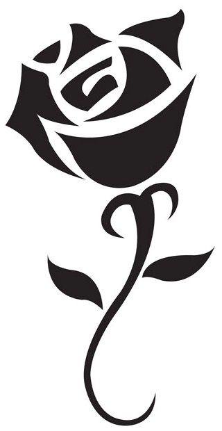 Simple And Sharp Dibujos De Flores Siluetas