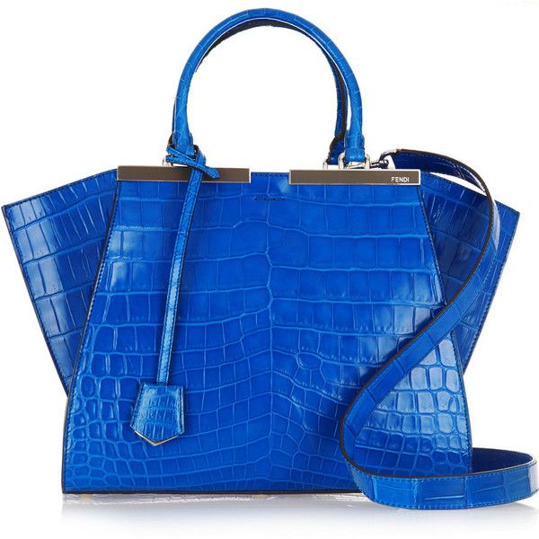 Fendi 3Jours medium crocodile tote (€27.745) ❤ liked on Polyvore featuring  bags 76abe1a437461