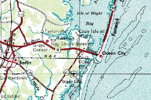 Ocean City Maryland Topographic Map Science Pinterest