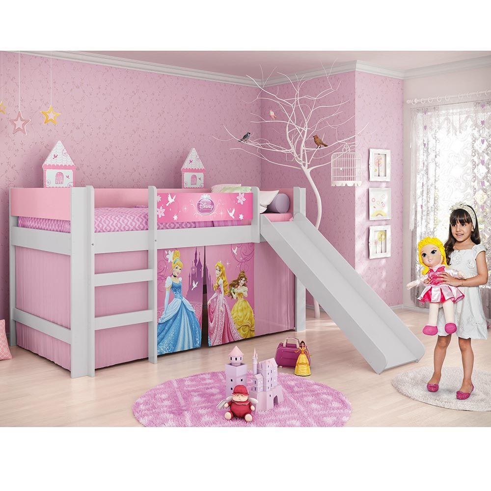 Cama infantil princesas disney play com escorregador 100 - Camas infantiles de princesas ...