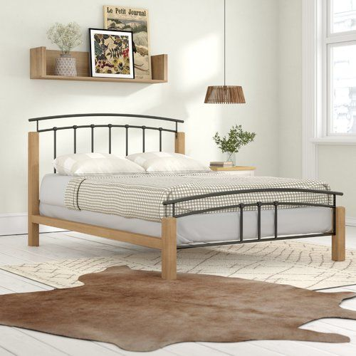 Mercury Row Bed Frame With Images Platform Bed Metal Platform Bed Upholstered Bed Frame