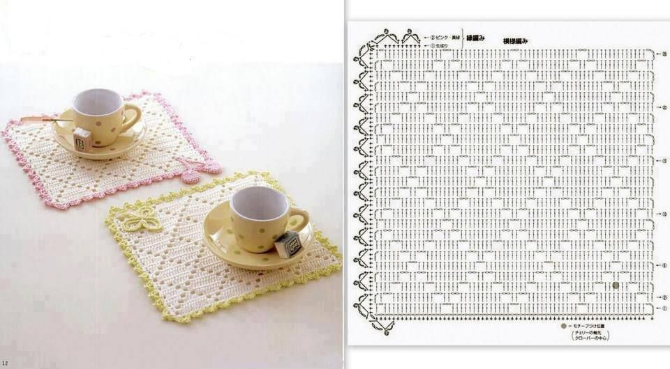 Individuales. | crochet | Pinterest | Agarraderas, Alfileteros y Carpeta