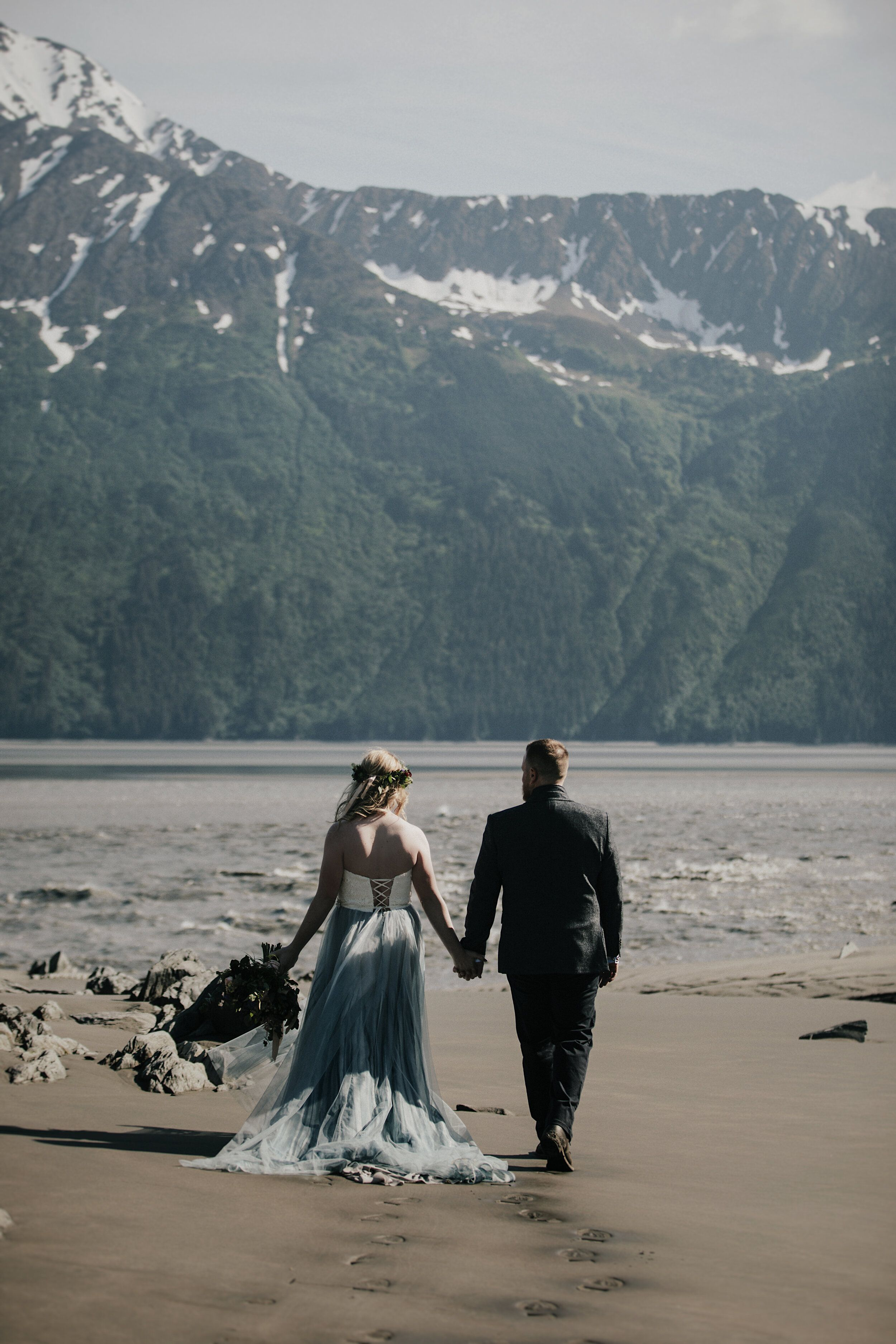 adventurous wedding anniversary session in alyeska, alaska