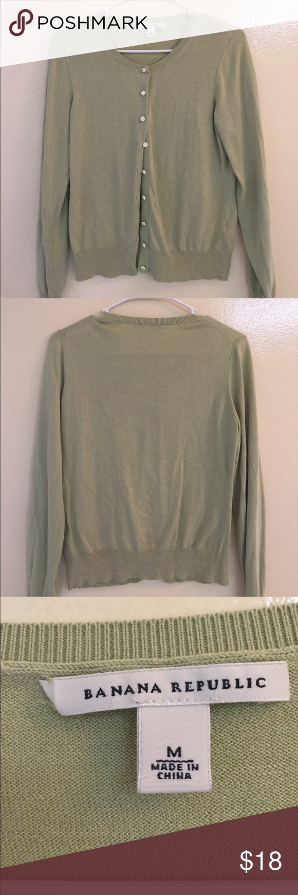 Banana Republic Women's Green Cardigan Sweater | Banana republic ...