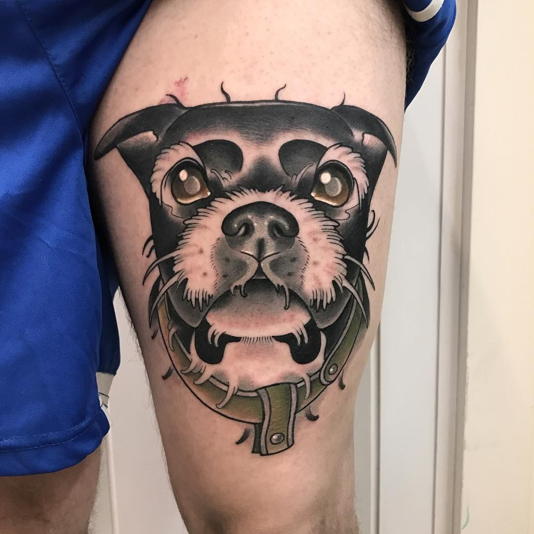 """1,389 Likes, 11 Comments - Roger Mares (@mares_tattooist) on Instagram: """"🐶🐶 for bookings 📨marestattoo@gmail.com ___________________________________________ Done at…"""""""