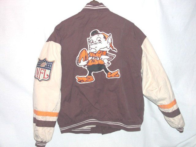 e4370dd08 Cleveland Browns BROWNIE ELF sewn authentic throwback Jacket XL Mirage Cleveland  Browns