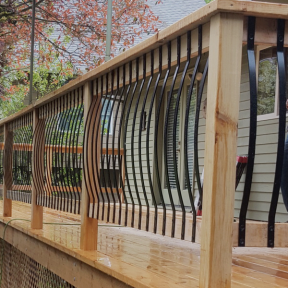Deck Baluster Image Gallery Face Mount Balusters Deck Balusters Deck Railings Railing Design