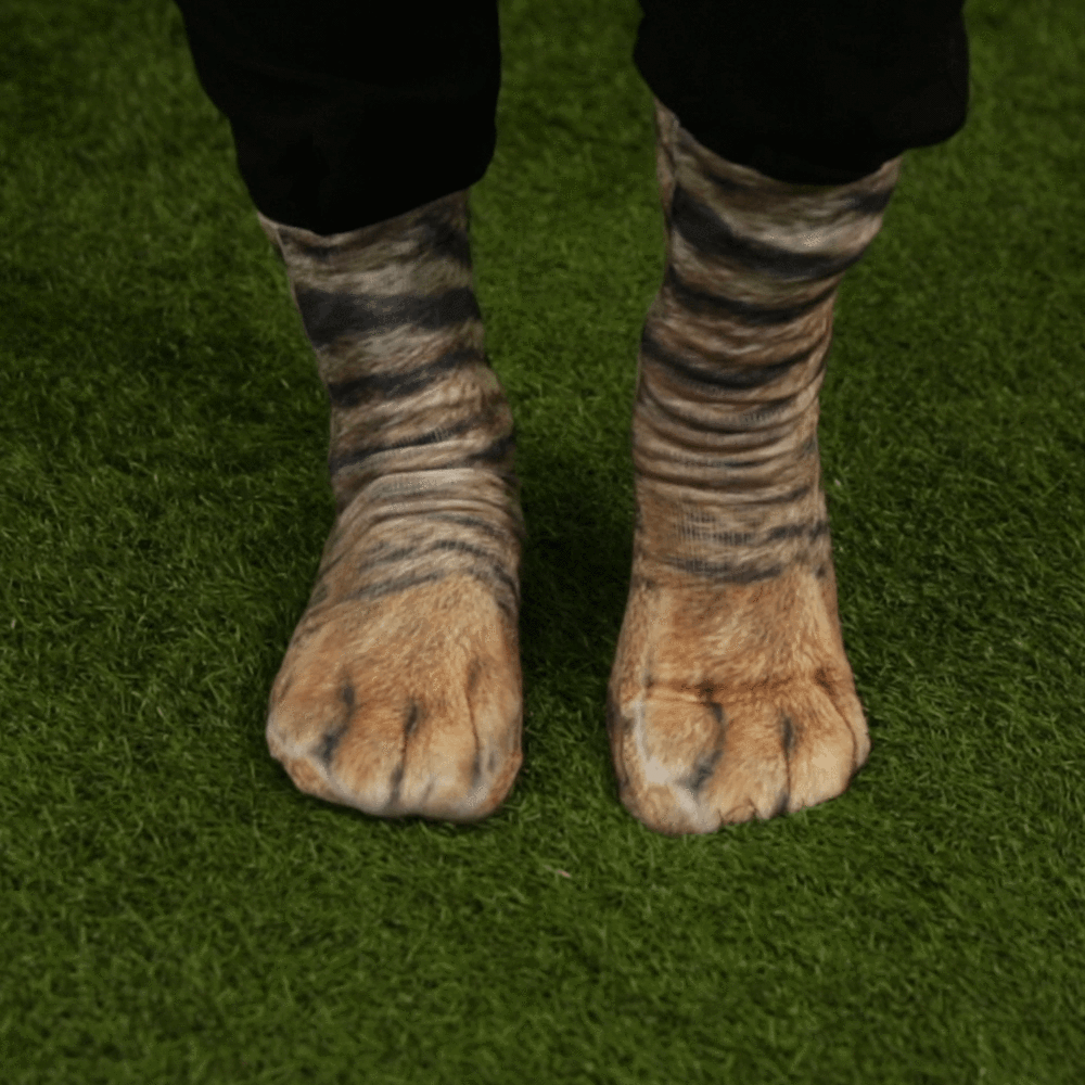 Animal Paw Socks (One Size Fits All) Paws socks, Gifts