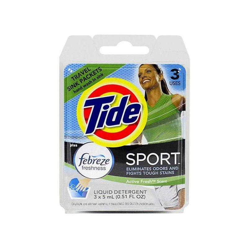 Tide Plus Febreze Freshness Sport Travel Sink Packets 3pk