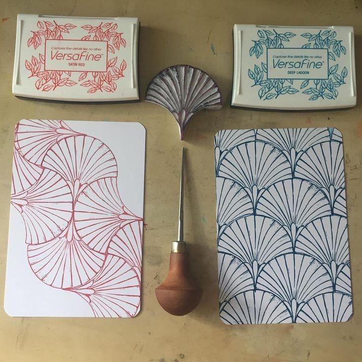 handgemachte briefmarkenbild von nadia müller auf ideen