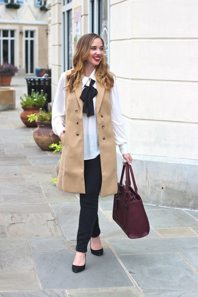 Stylish Trench Vest for Fall @maisonjules