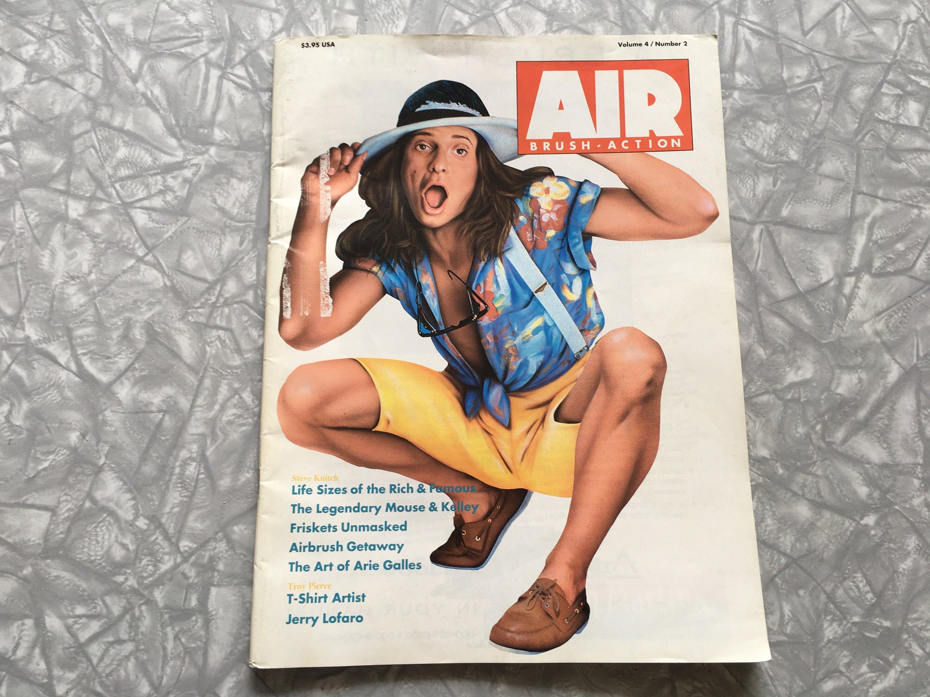 Air Brush Action Magazine Volume 4 Number 2 Sept Oct 1988 Etsy In 2020 David Lee Roth Airbrush Magazine