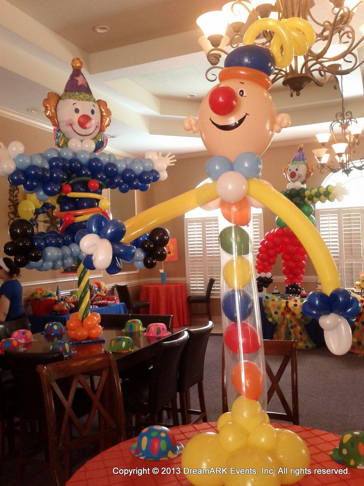 Carnival theme kids party circus clowns pinterest