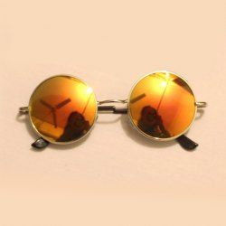 1ad027daa1 Vintage Style Round Frames Anti UV Sungasses For Women and Men (YELLOW)
