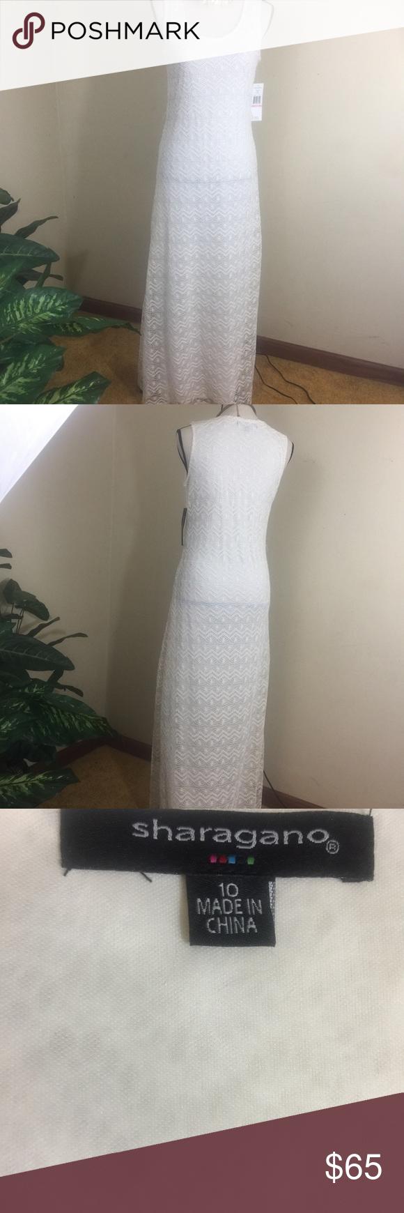 Sharagano knitted long dress nwt nwt in my posh picks