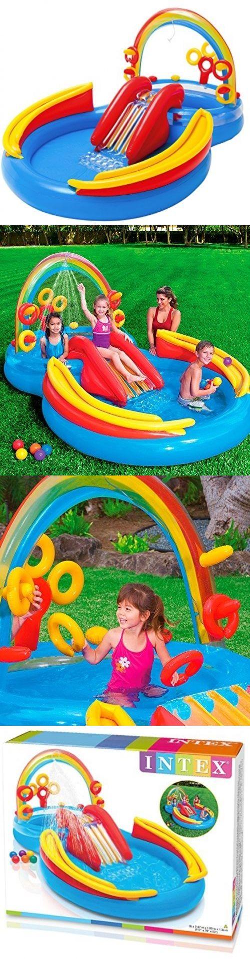 pools 145989 inflatable water slide outdoor pool play kids fun