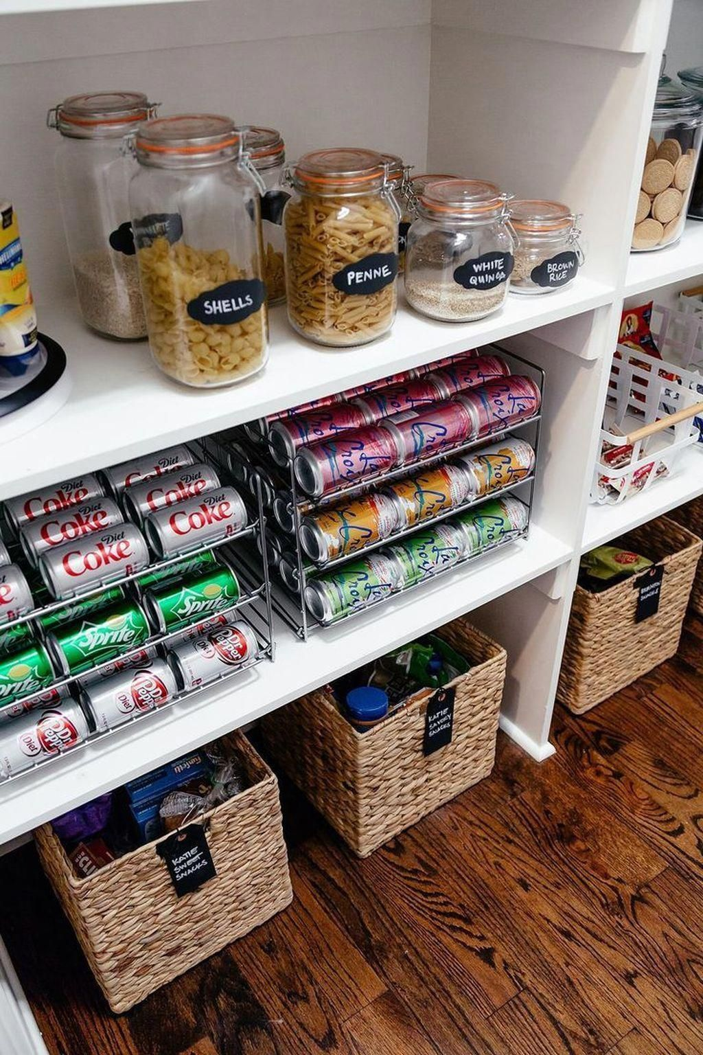 cool 49 nice pantry organization ideas kitchenpantryideas in 2020 diy pantry organization on kitchen organization small apartment id=37609