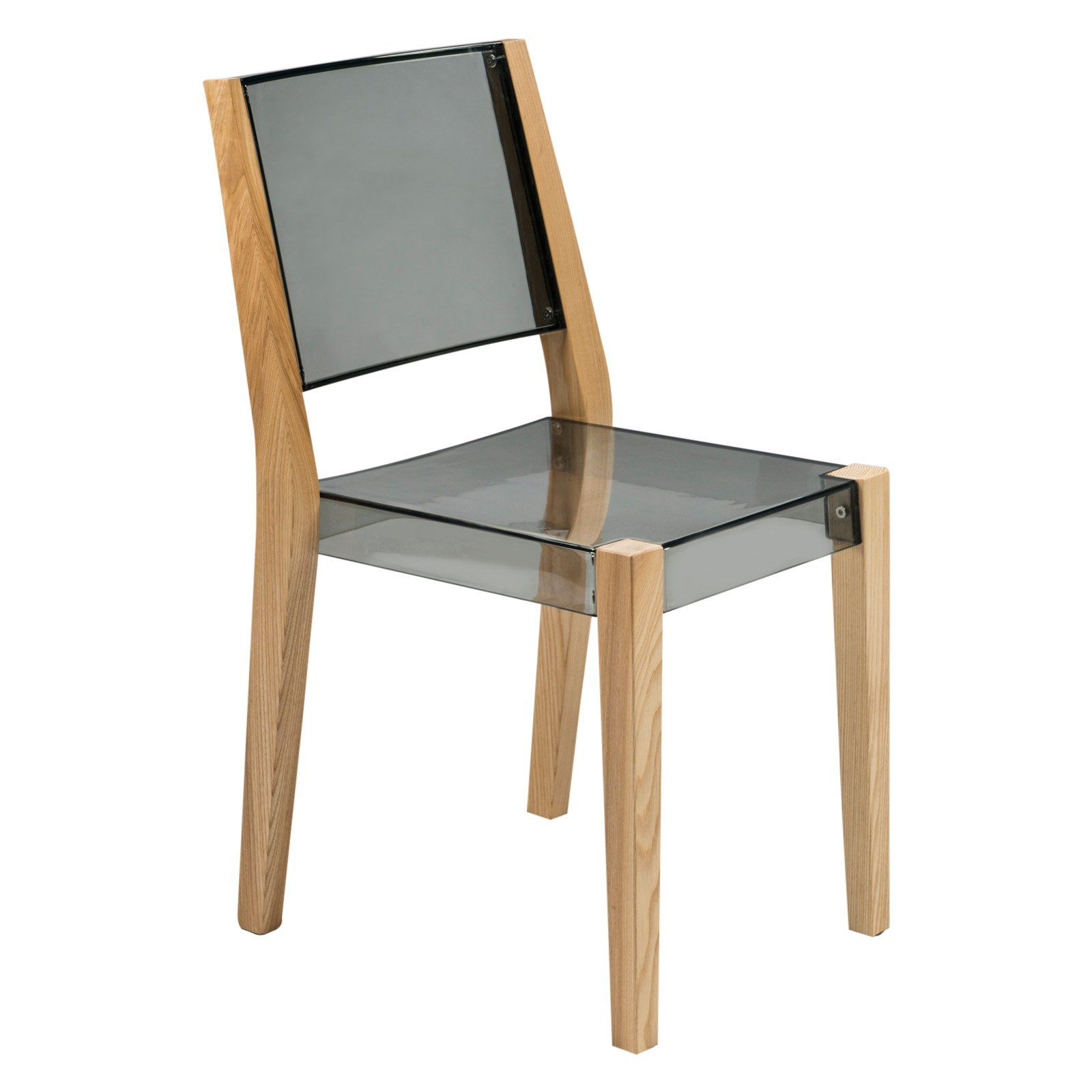 Leisuremod Barker Modern Chair With Wooden Frame Dining Chairs